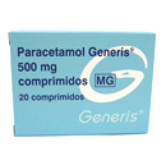 PARACETAMO GNRS G COMP 500 MG X 20