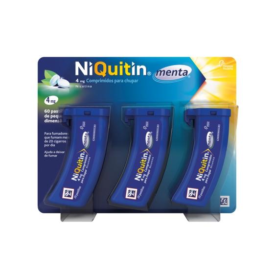 NIQUITIN MENTA COMP CHUPAR 4 MG X 60