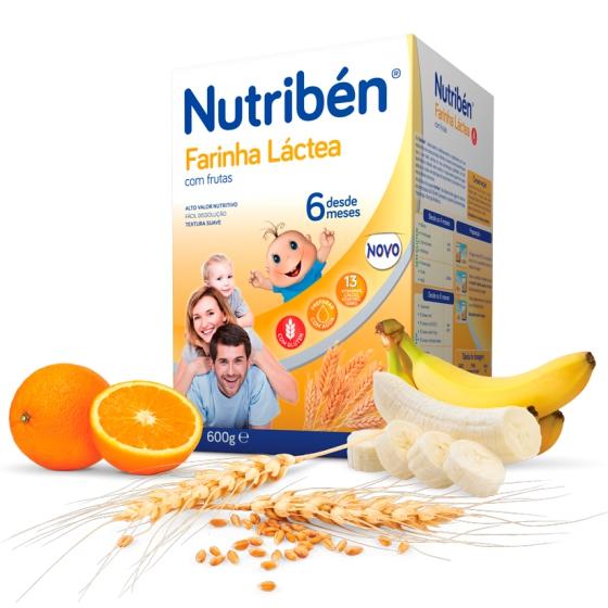 NUTRIBEN FARINHA LACTEA C/FRUTAS 600G