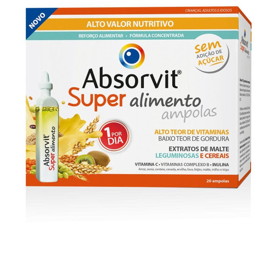 ABSORVIT SUPER ALIMENTO AMP 15ML X20
