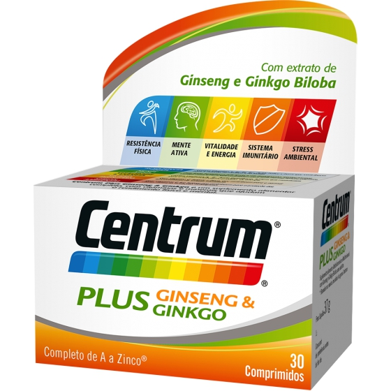 CENTRUM PLUS GINSENG GINKGO COMPX30