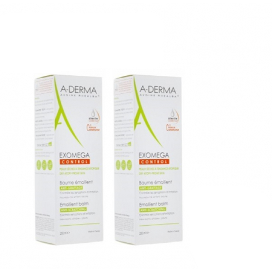 A-DERMA EXOMEGA CONTROL BALS EMOL 400MLX2