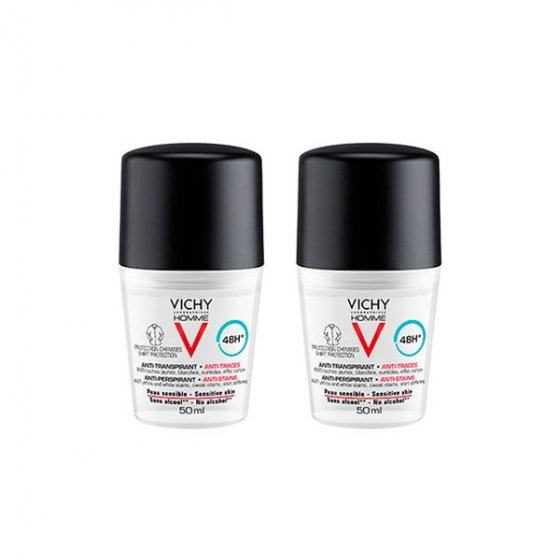 VICHY HOMME DEO ROLL ON MANCH50ML DUO