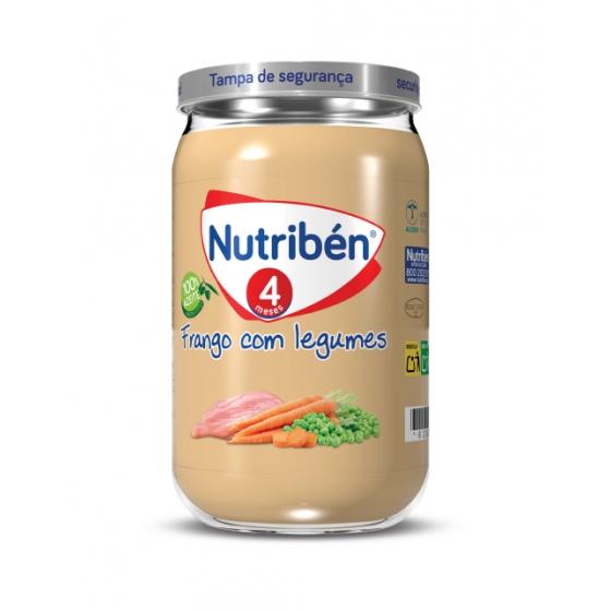 NUTRIBEN BOIAO 6 FRANGO C/LEGUMES 235G