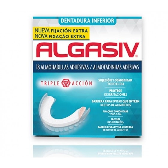 ALGASIV ALMOFAD ADESIVAS DENT INF X18