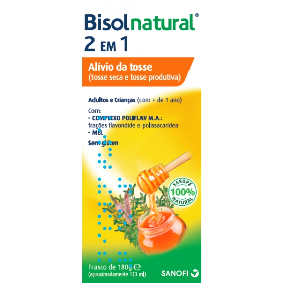 BISOLNATURAL 2 EM 1 (MUCONATURAL) XAROPE 180ML