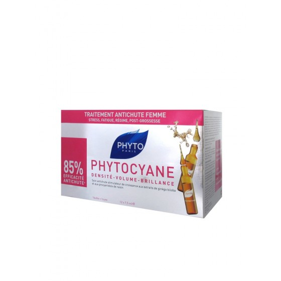 PHYTO COURO CABEL AMP PHYTOCYANE 7,5ML X12
