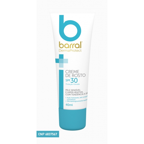BARRAL DERMAPROTE CR ROSTO SPF30 40 ML