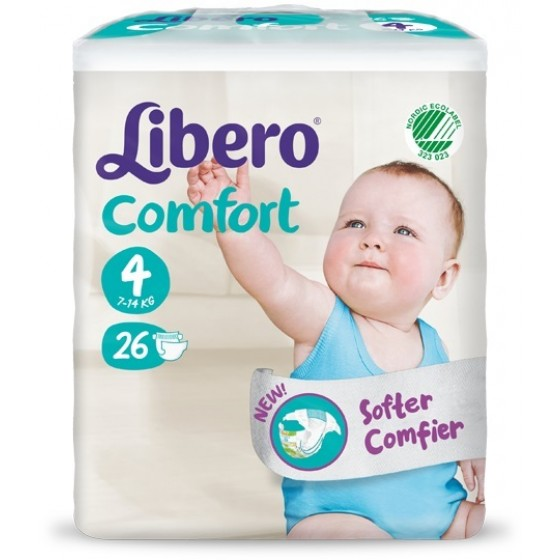 LIBERO BABY COMFO FRALD TAMANHO 4 7/14 KG MA/MO X 31