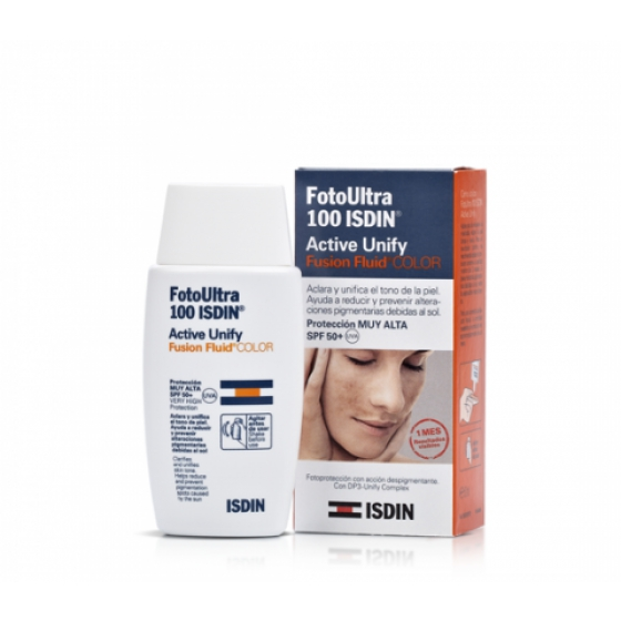 FOTOULTRA100ISDIN ACT UNIF COL SPF50+ 50ML