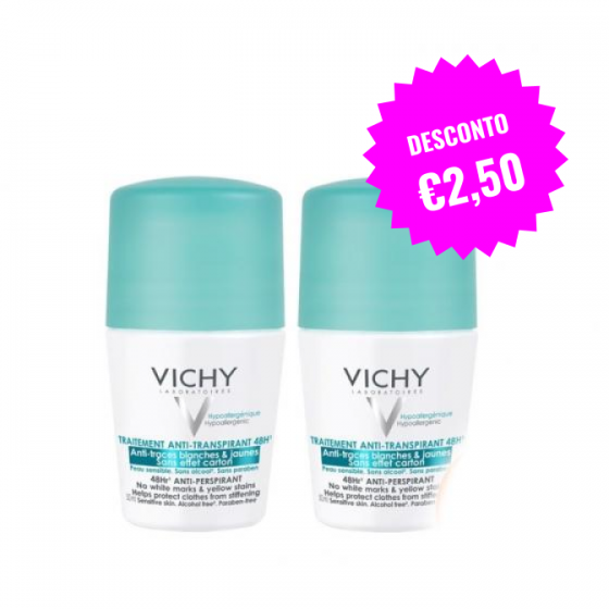 VICHY DEO ROLL ON DUO ANTIMANCHAS 50 ML