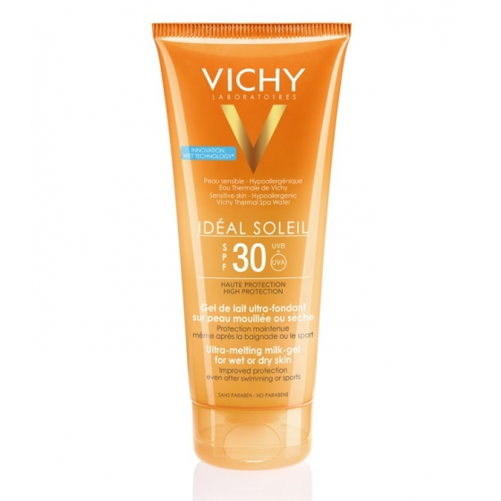 VICHY IDEAL SOLEI GEL LEITE CORP FP30 200ML