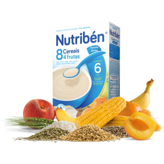 NUTRIBEN FARINHAS 8 CEREAIS 4 FRUT LA 300G