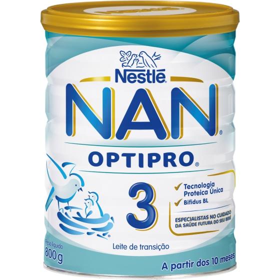 NAN 3 LEITE TRANSICAO 800 G