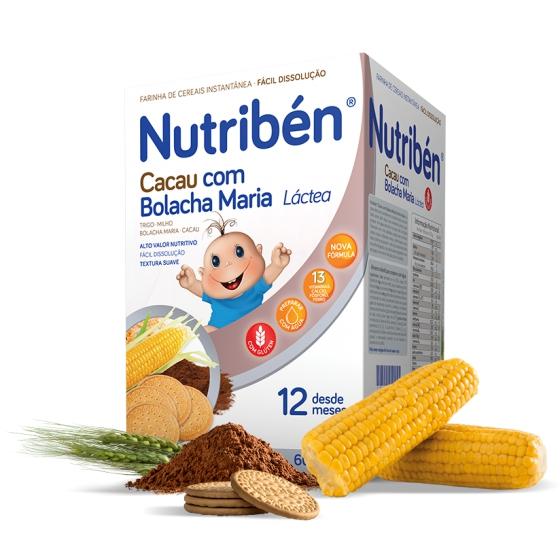 NUTRIBEN FARINHAS CACAU C/ BOLACHA MARIA LA 600 G