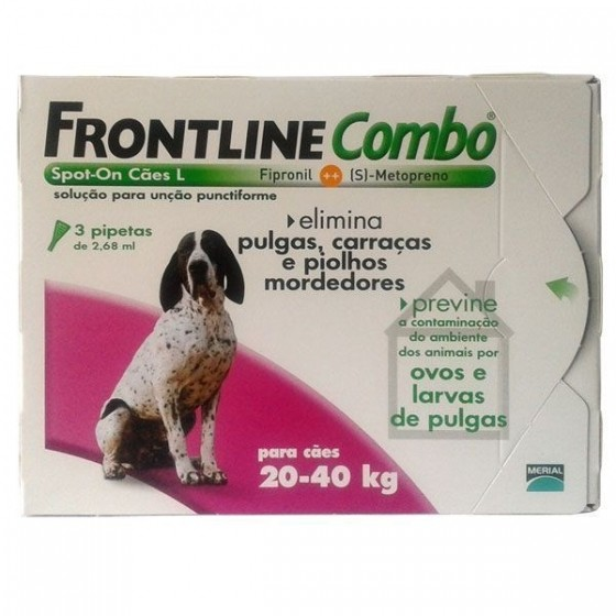 FRONTLINE COMBO SOL CAO 20-40KG 2,68MLX3