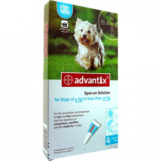 ADVANTIX 4-10 KG G SOLUCAO 1.0MLX4