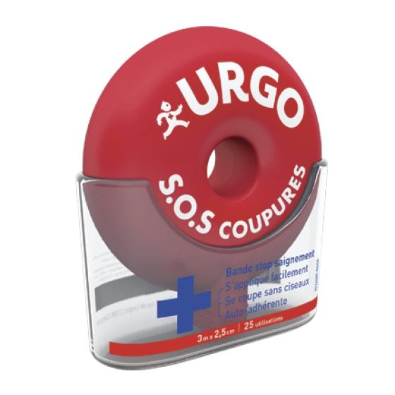 URGO SOS CORTES BANDA AUTOADES 2,5CMX3M