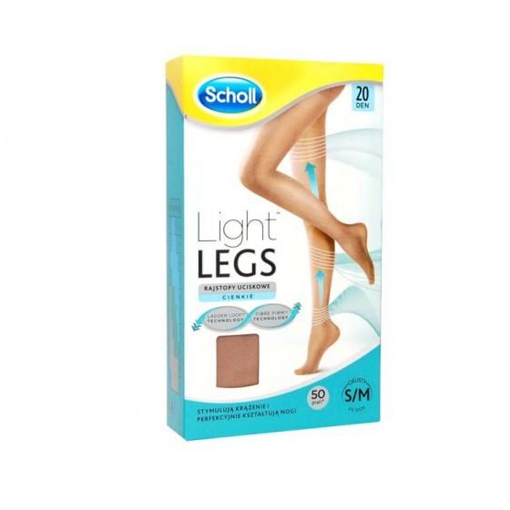SCHOLL LIGHT LEGS COLL COMP 20DEN L PELE