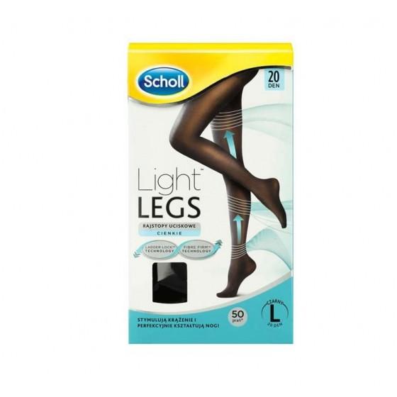 SCHOLL LIGHT LEGS COLL COMP 20DEN L PRETO
