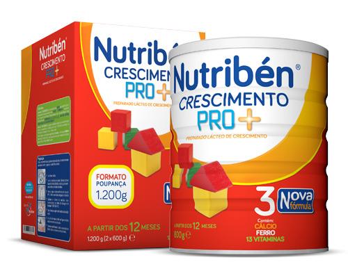 NUTRIBEN CRESCIM PRO+ LEITE 2X600G PÓ SOL ORAL MEDIDA