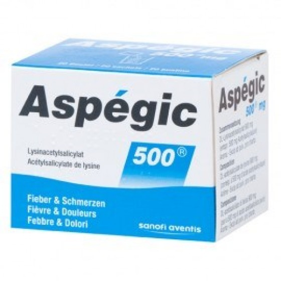 ASPEGIC  500 CART PO 500 MG X 20